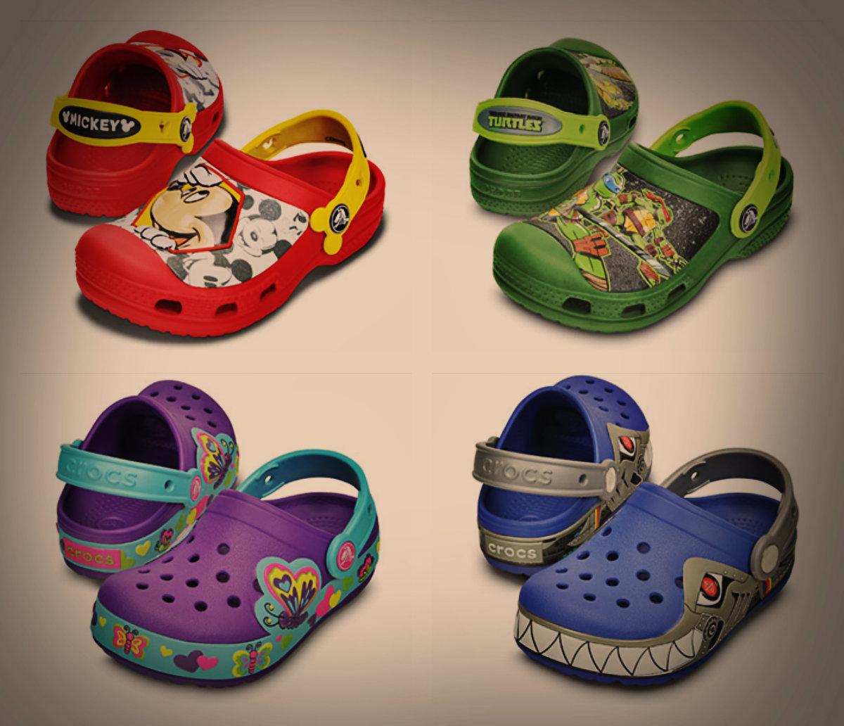 Светящаяся обувь — новинка в магазинах Crocs!