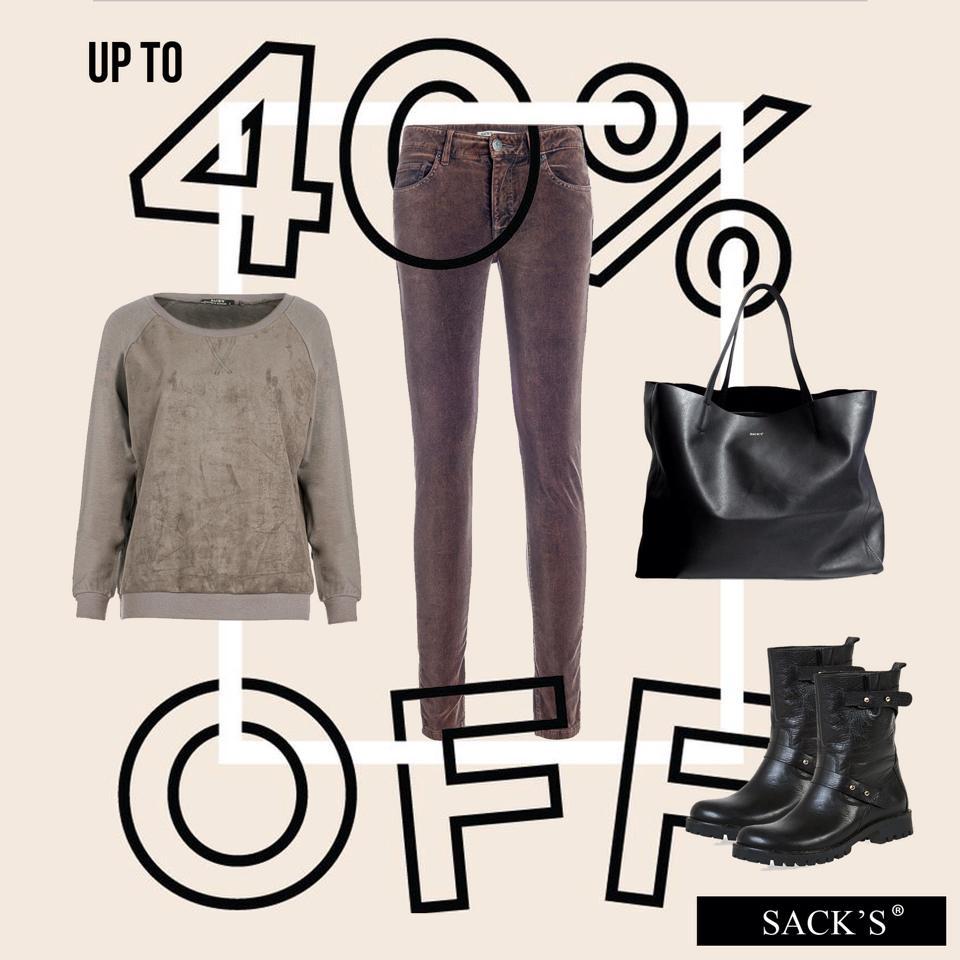 Winter sale в бутиках «SACK'S»