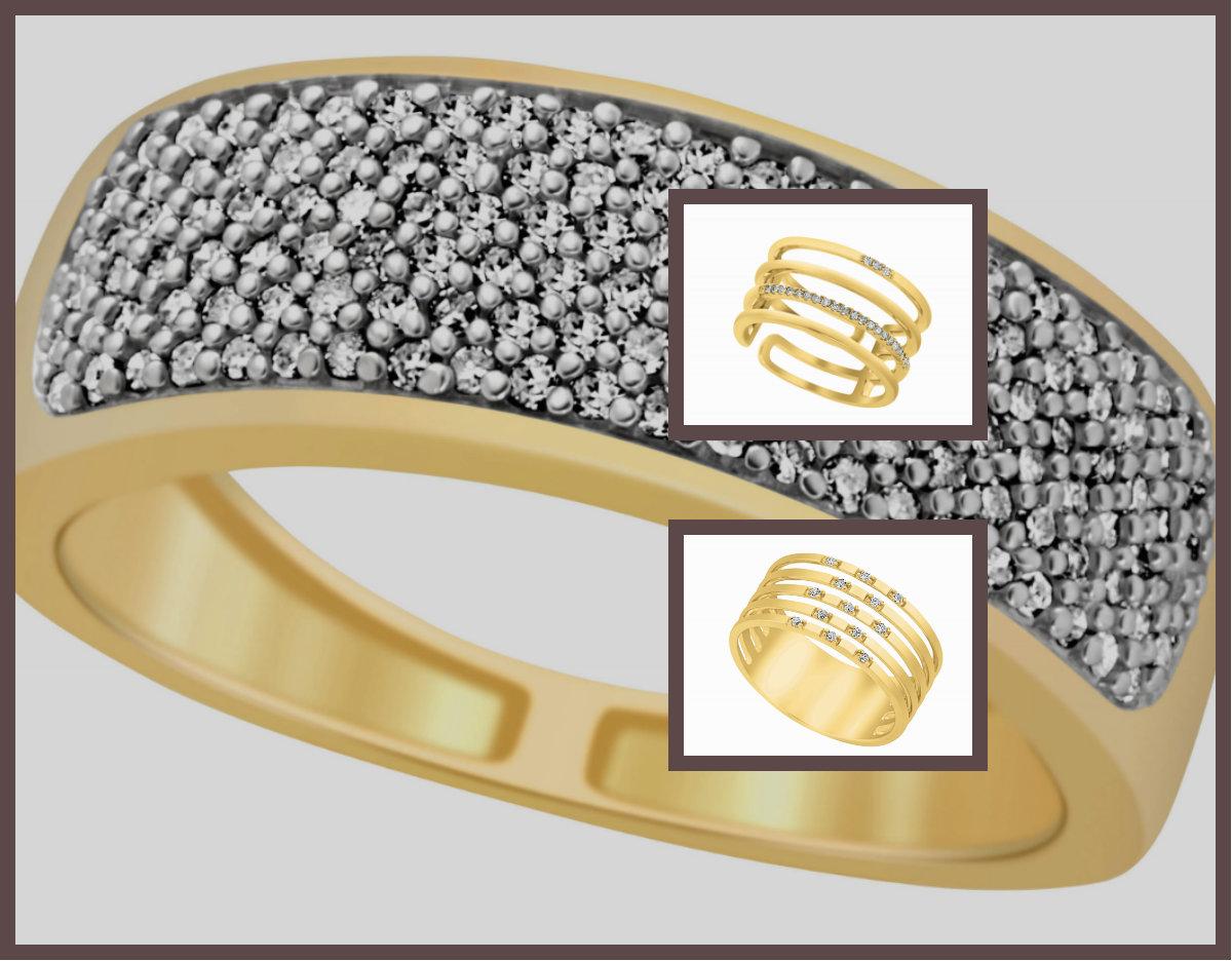 Impress новая коллекция золотых колец