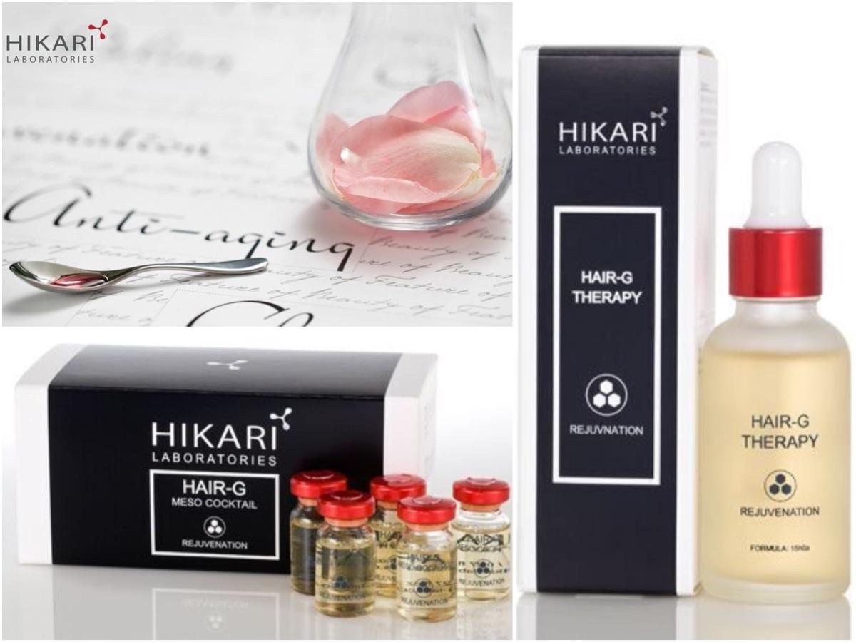 Линия лаборатории HIKARI для усиления роста ресниц и бровей, увеличения объема волос
