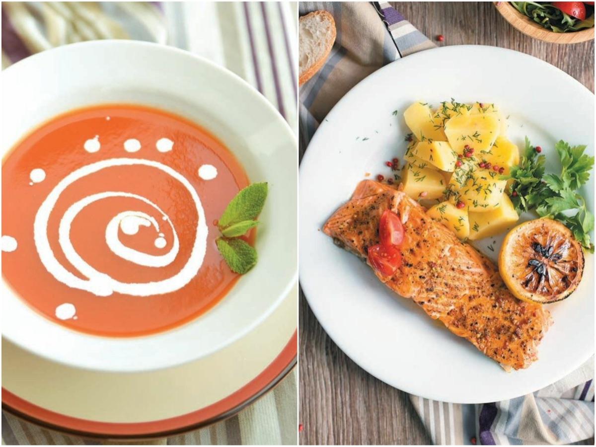 Летний обед от Redmond: крем-суп томатный и семга на пару — рецепты