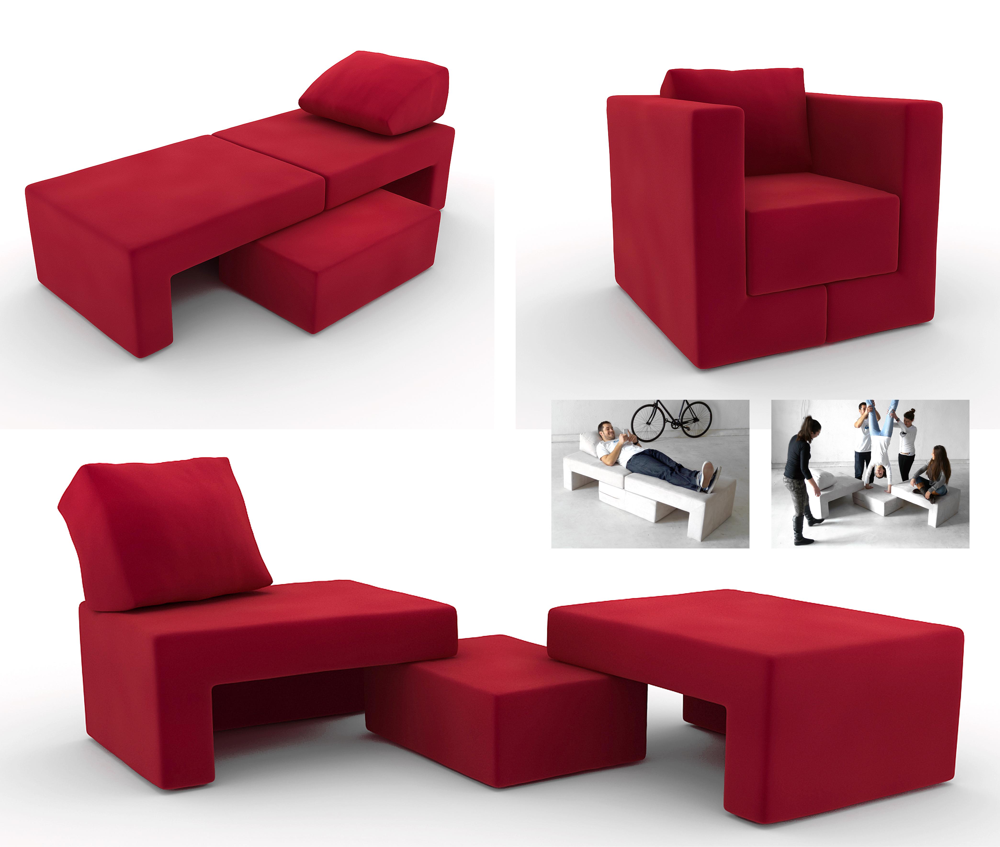 Модульное кресло-кровать Q6 – шесть в одном