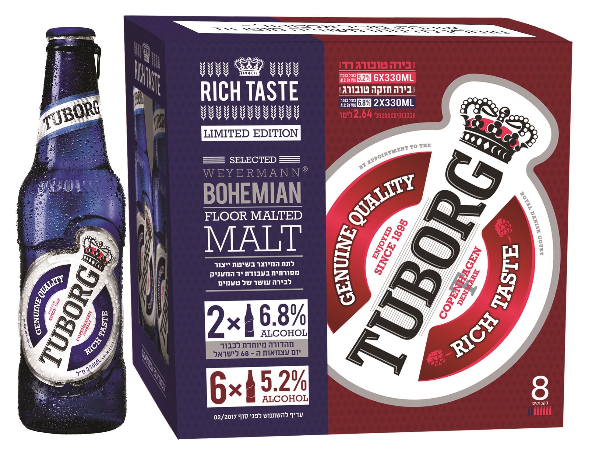 Tuborg limited edition – особое пиво с 6.8% алкоголя,специально ко Дню Независимости