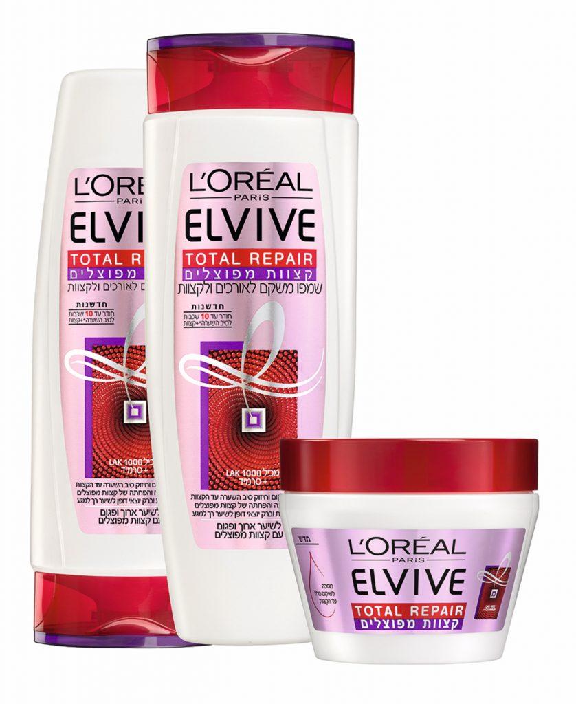 לוריאל פריז משיק סדרת אלביב ריפייר לשיער יבש ופגום צילום מוטי פישביין