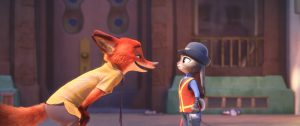 "NATURAL ENEMIES ? Zootopia's first bunny officer Judy Hopps finds herself face to face with a fast-talking, scam-artist fox in Walt Disney Animation Studios' ""Zootopia."" Featuring the voices of Ginnifer Goodwin as Judy and Jason Bateman as Nick, ""Zootopia"" opens in theaters on March 4, 2016. ?2016 Disney. All Rights Reserved."