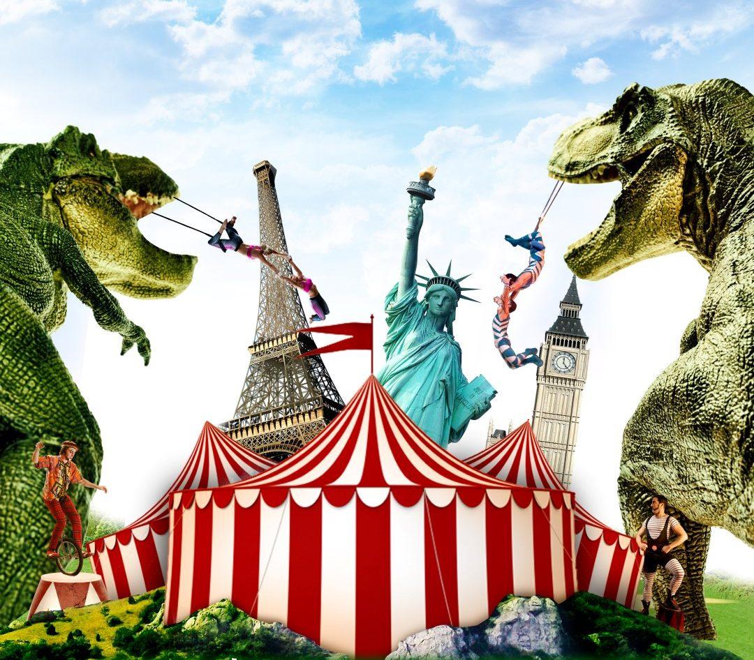 И снова на арене – динозавры! Кругосветное цирковое путешествие динозавров