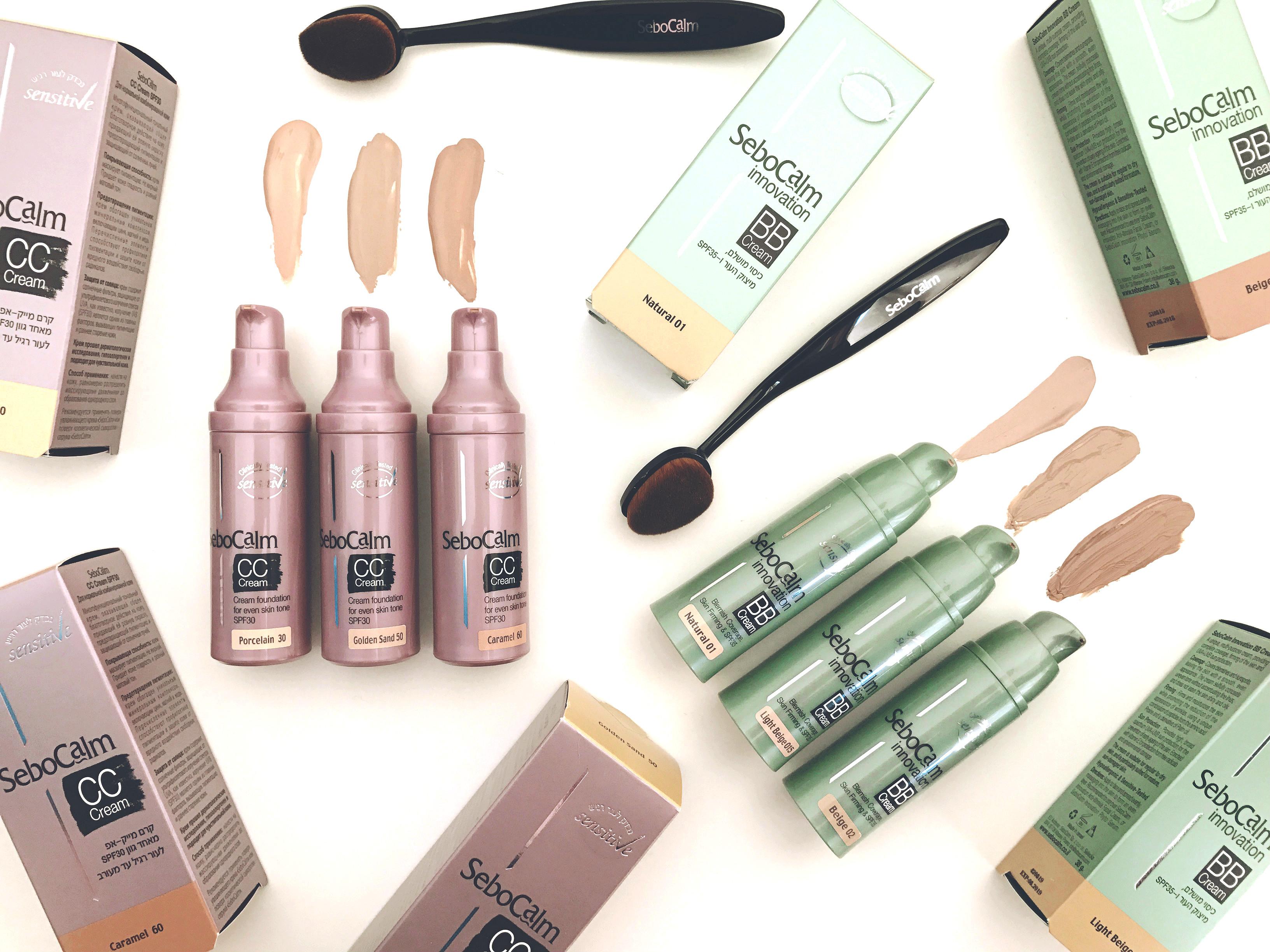 «Фотошоп в тюбике» – идеальный цвет лица этим летом, а так же защита от солнца: ВВ-крем -99 шекелей, СС-крем -89 шекелей, инновационная кисточка для макияжа -49 шекелей от SeboCalm!
