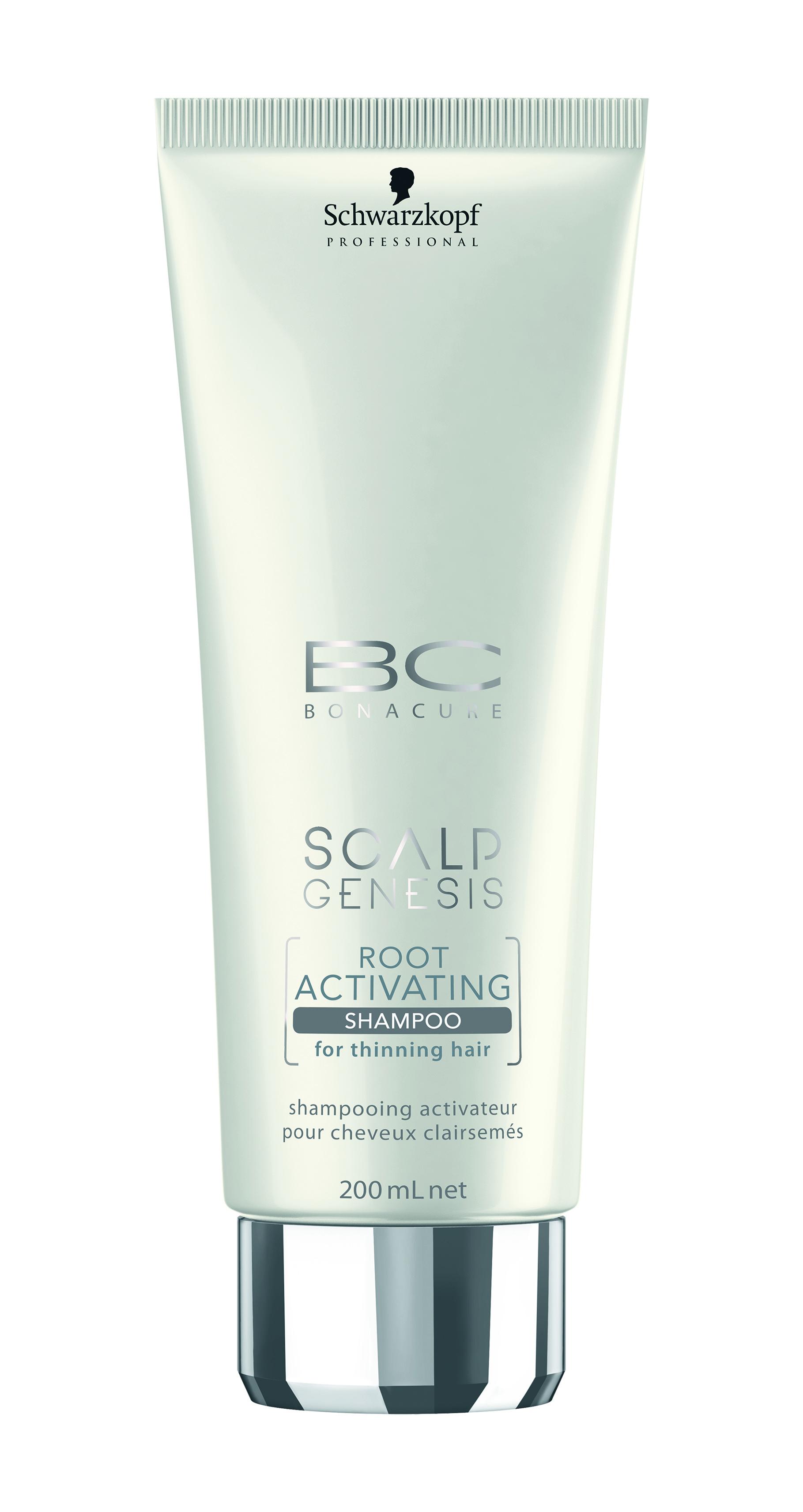 שוורצקופף פרופשיונל- שמפו להחייאת שיער דליל מסדרת סקאלפ ג'נסיס- BC Scalp Genesis Root Activating Shampoo- 99שח ל200מל