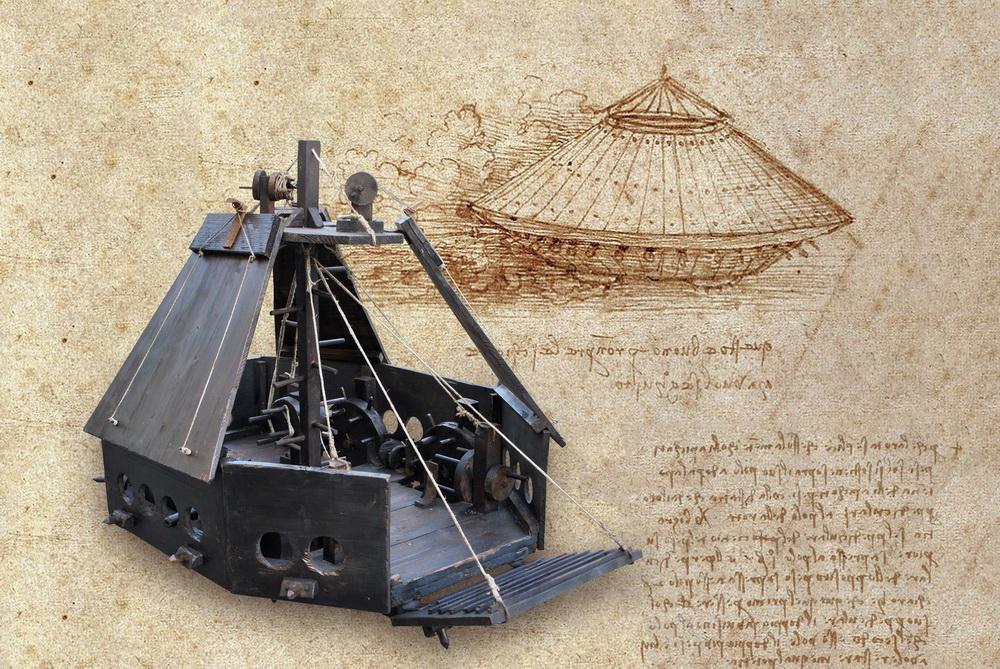 Великий изобретатель Леонардо да Винчи в Тель-Авиве