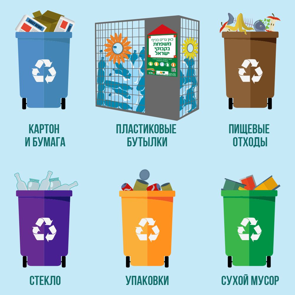 Сортировка мусора в Израиле: разделяй и властвуй