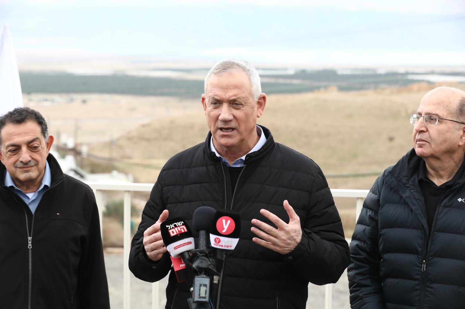 Бени Ганц: Иорданская долина должна быть аннексирована Израилем