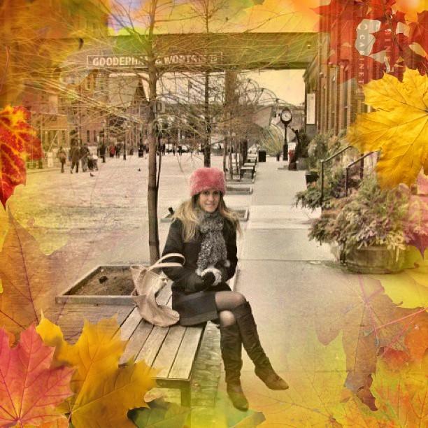 Модная привлекательность в холодные дни