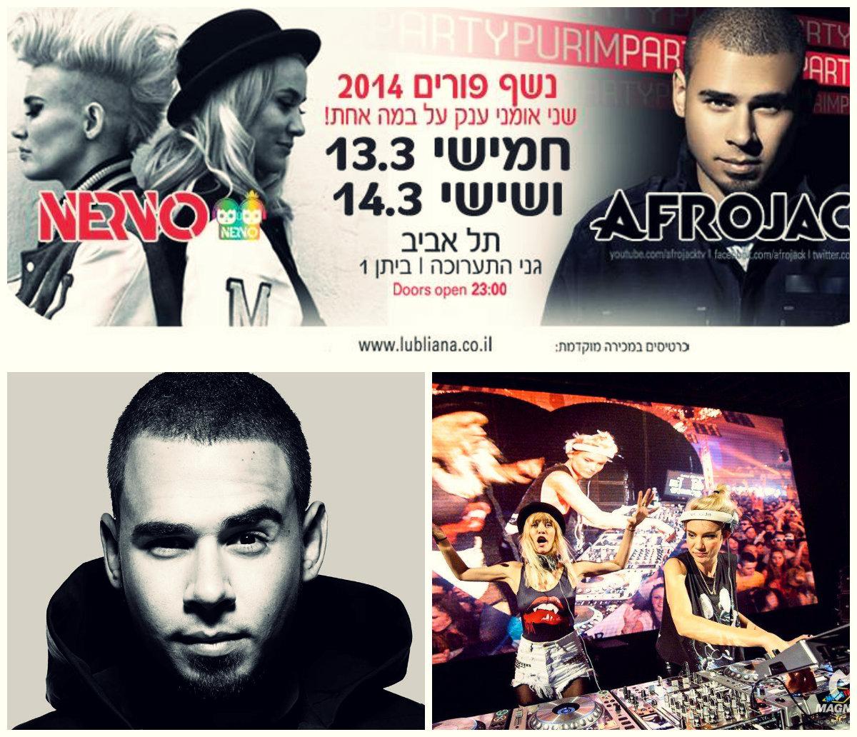 Afrojack & Nervo в Тель-Авиве