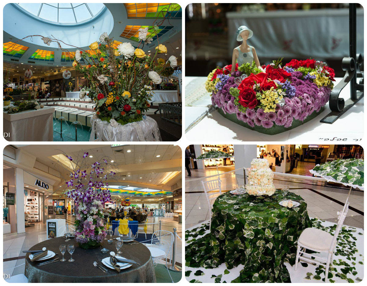 Выставка картин из цветов в канун Шавуот
