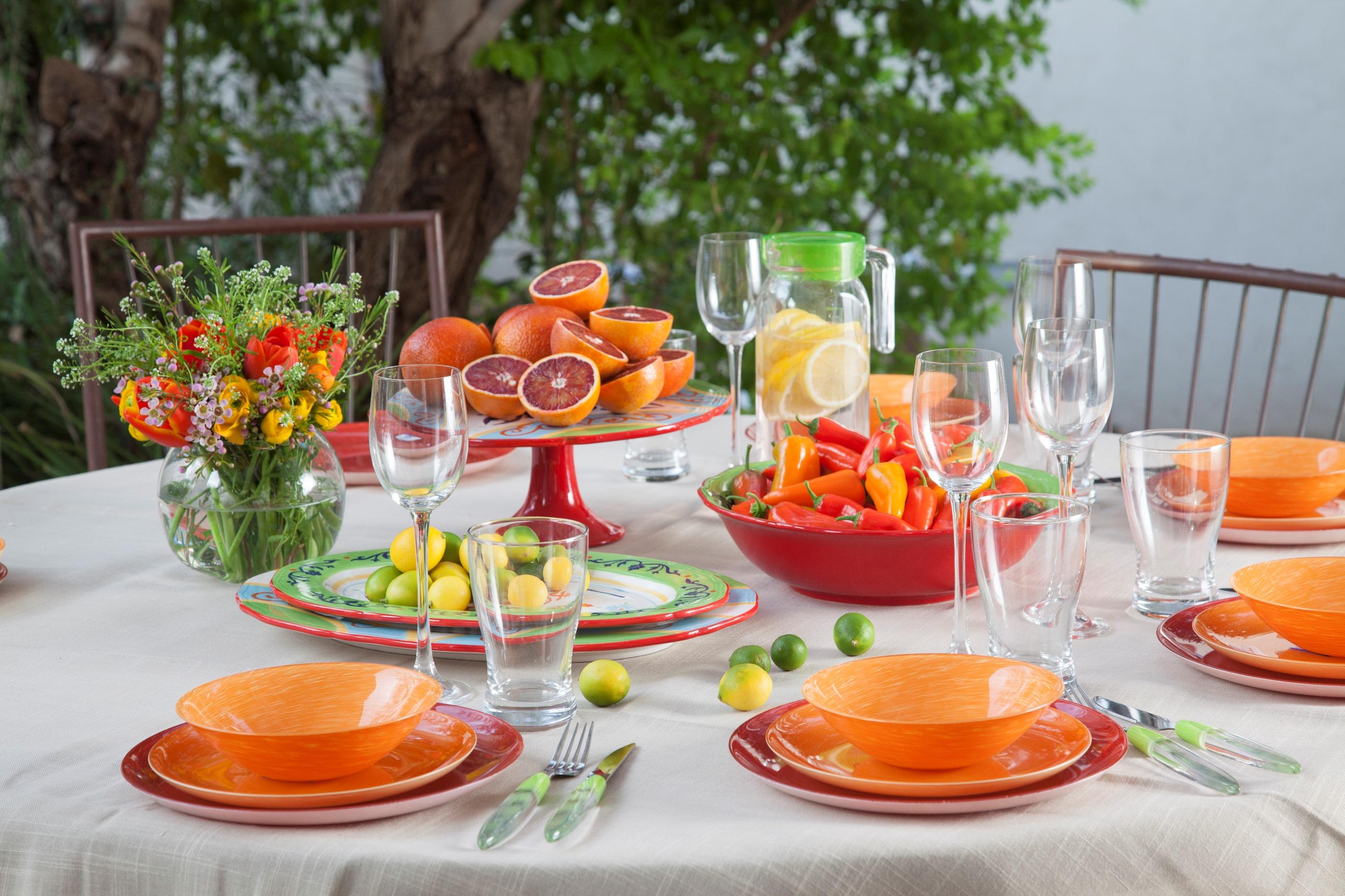 Сервировка блюд для праздничного стола