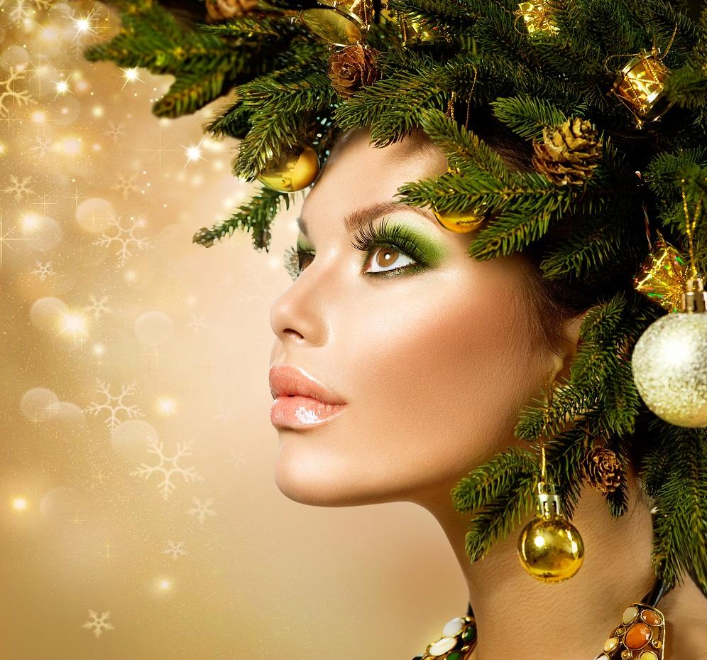 Новогодний макияж по всем правилам