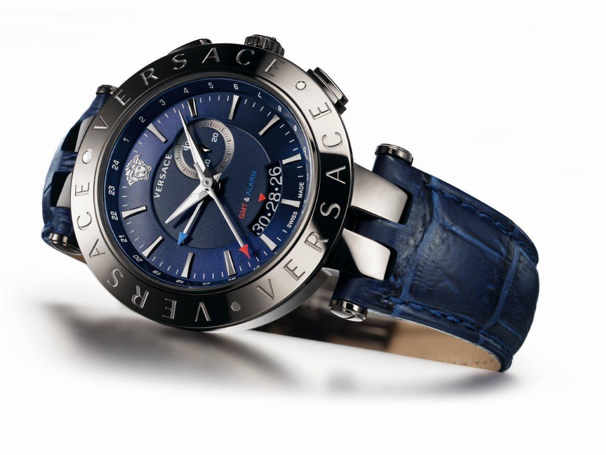 Часы V-RACE GMT ALARM от Versace для деловых мужчин