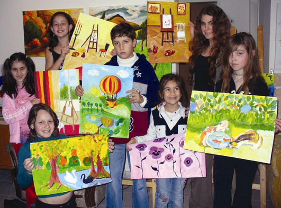 Выставка картин юных художников Кфар-Сабы
